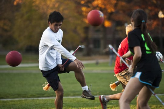 Grab a broomstick and try a practice round of Quidditch on Friday at the Montgomery Zoo.