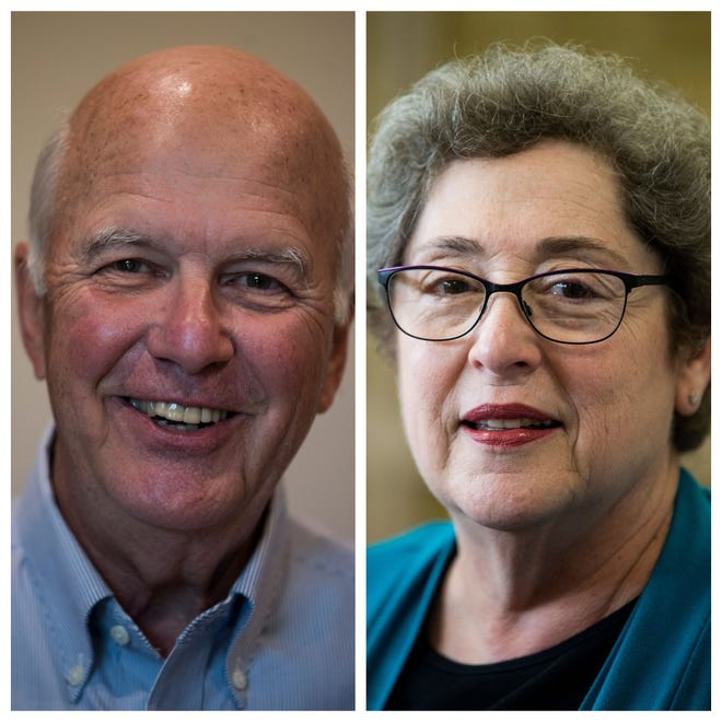 Ted Lowry and Clare Weil are seeking election to the District 2 board of education seat.