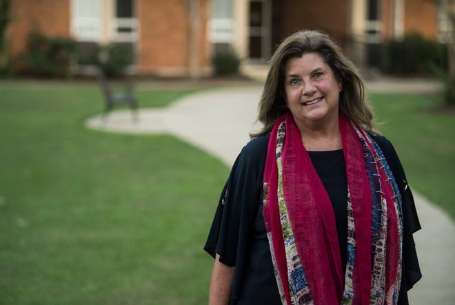 Lesa Keith, candidate for District 1 Board of Education, poses for a portrait at Faulkner University in Montgomery, Ala., on Monday, Oct. 1, 2018.