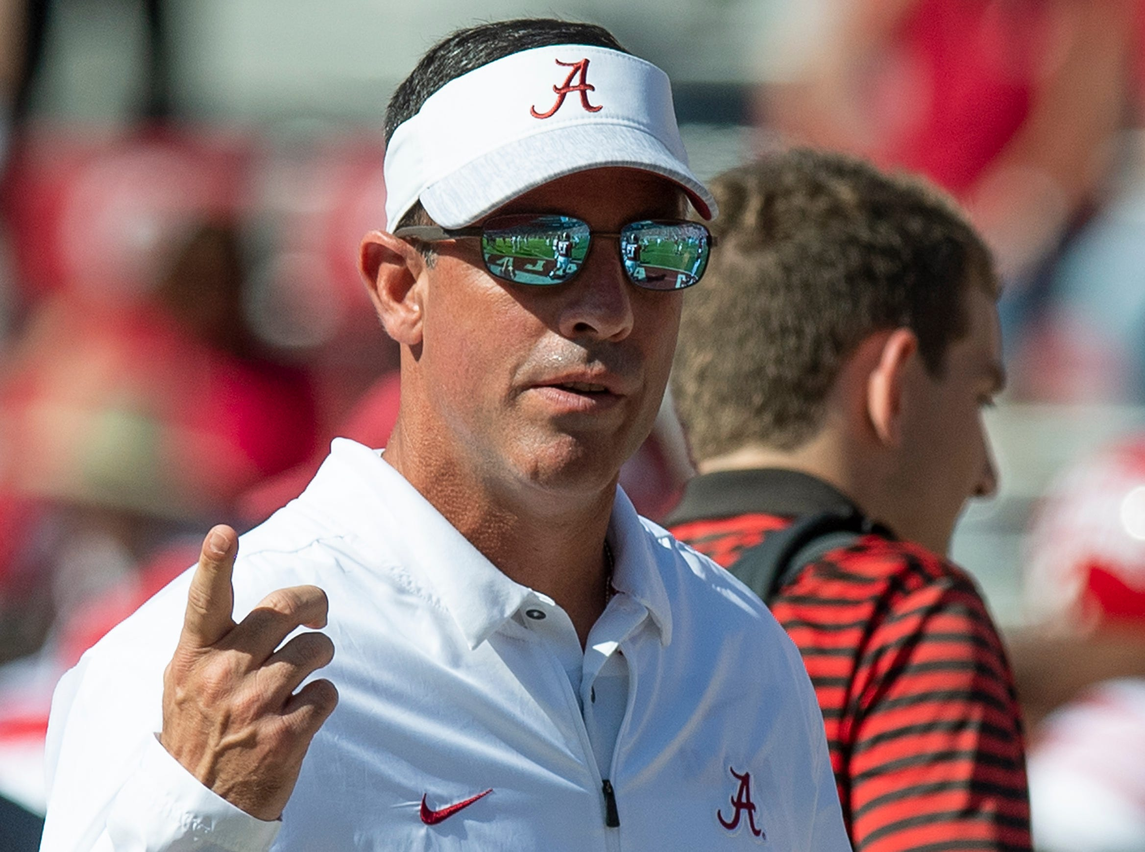 Alabama quarterbacks coach Dan Enos before the Alabama vs. Louisiana game in Tuscaloosa, Ala., on Saturday September 29, 2018.