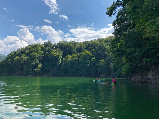 Paddling the shores of Watauga Lake is something for all skill levels. The clear water and natural shoreline make for beautiful scenery.