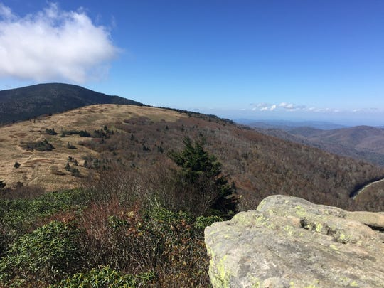 The bald mountains of the Roan Highlands offer spectacular views.