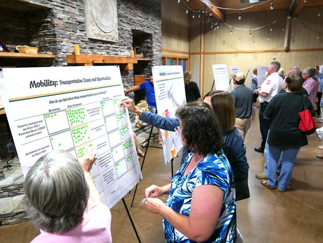 Fairview citizens attending first public planning workshop for city comprehensive plan process in August 2018.