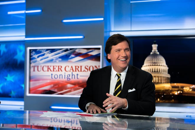 "Fox News host Tucker Carlson's new book, ""Ship of Fools: How a Selfish Ruling Class is Bringing America to the Brink of Revolution,"" published Tuesday, Oct. 2, 2018."