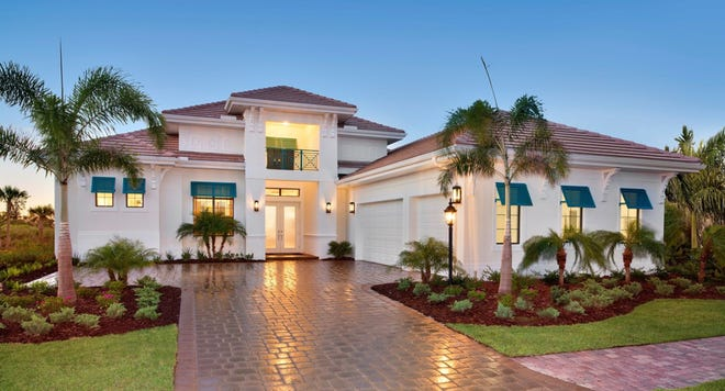 The Madison model offered in The Cottonwood Collection at The Isles of Collier Preserve.