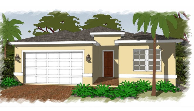 The Fiesta design with three bedrooms, two baths and a study will be built by FL Star in Golden Gate Estates.