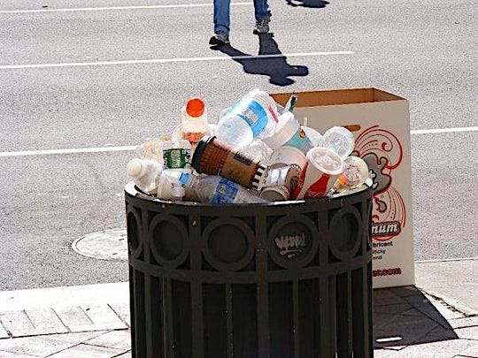 Crushing plastic disposed of in public spaces would allow more of it to be recycled, one reader noted.