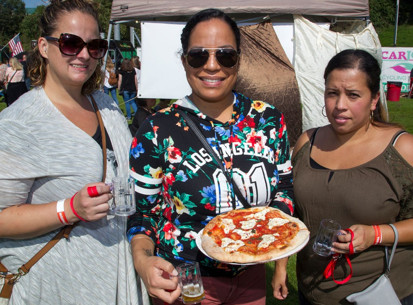 Tracey, Nisy, Lynette. The second annual Food Truck & Craft Beer Festival at Yogi Berra Stadium in Little Falls. 09/29/2018