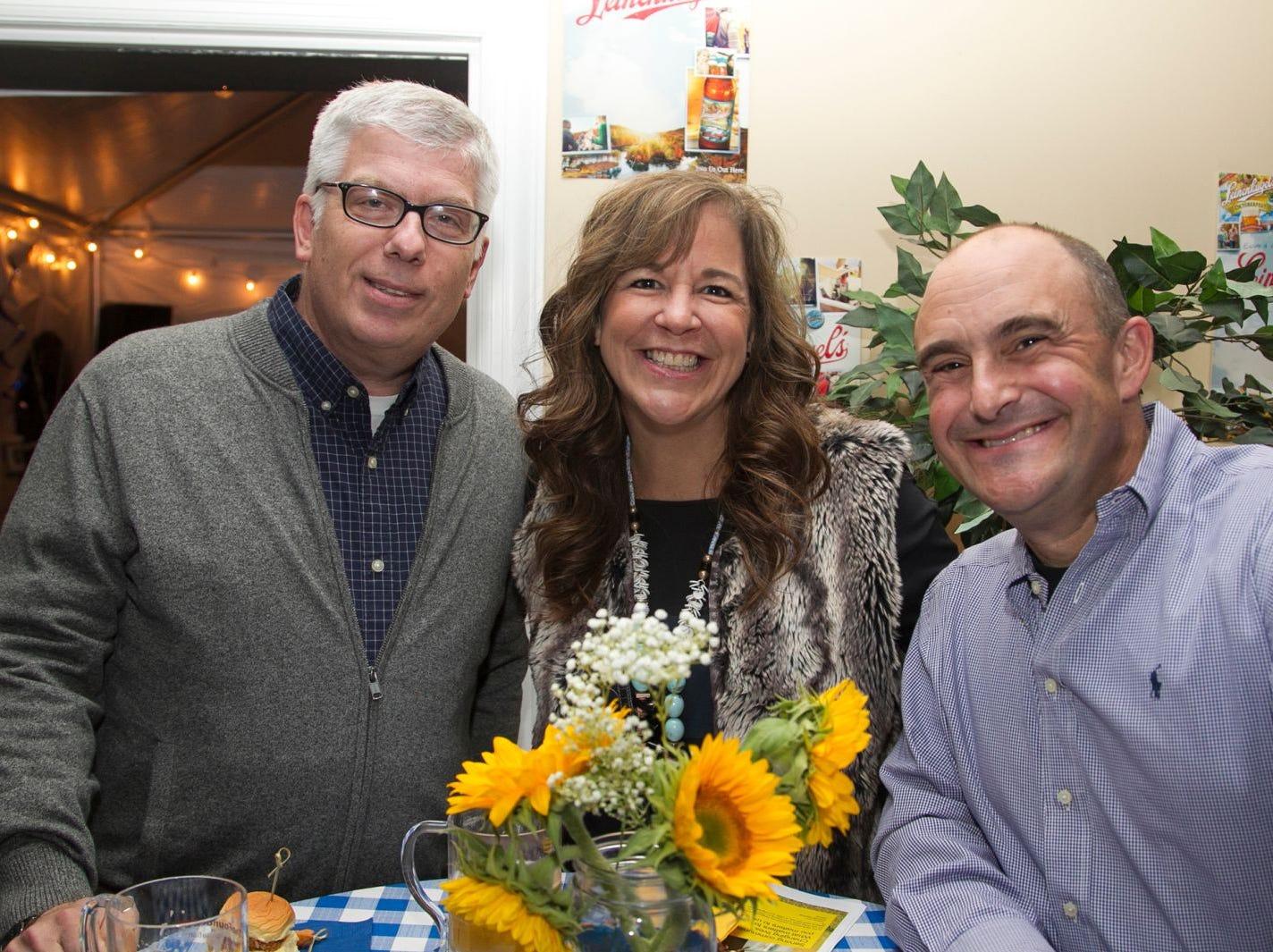 David Poelsha, Stacie Poelsha, Paul Semendinger (Hanes Principal). Ridgewood Education Foundation's 2018 Oktoberfest at the Hermitage. 09/29/2018