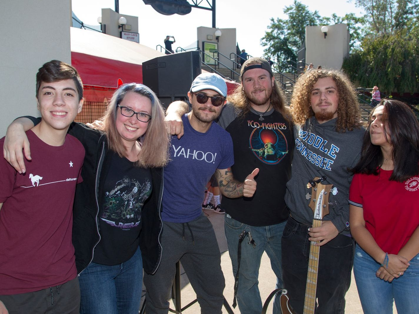 School of Rock House Band. Gavin, Becum, Wyatt, Vic, Marcus, Renee. The second annual Food Truck & Craft Beer Festival at Yogi Berra Stadium in Little Falls. 09/29/2018