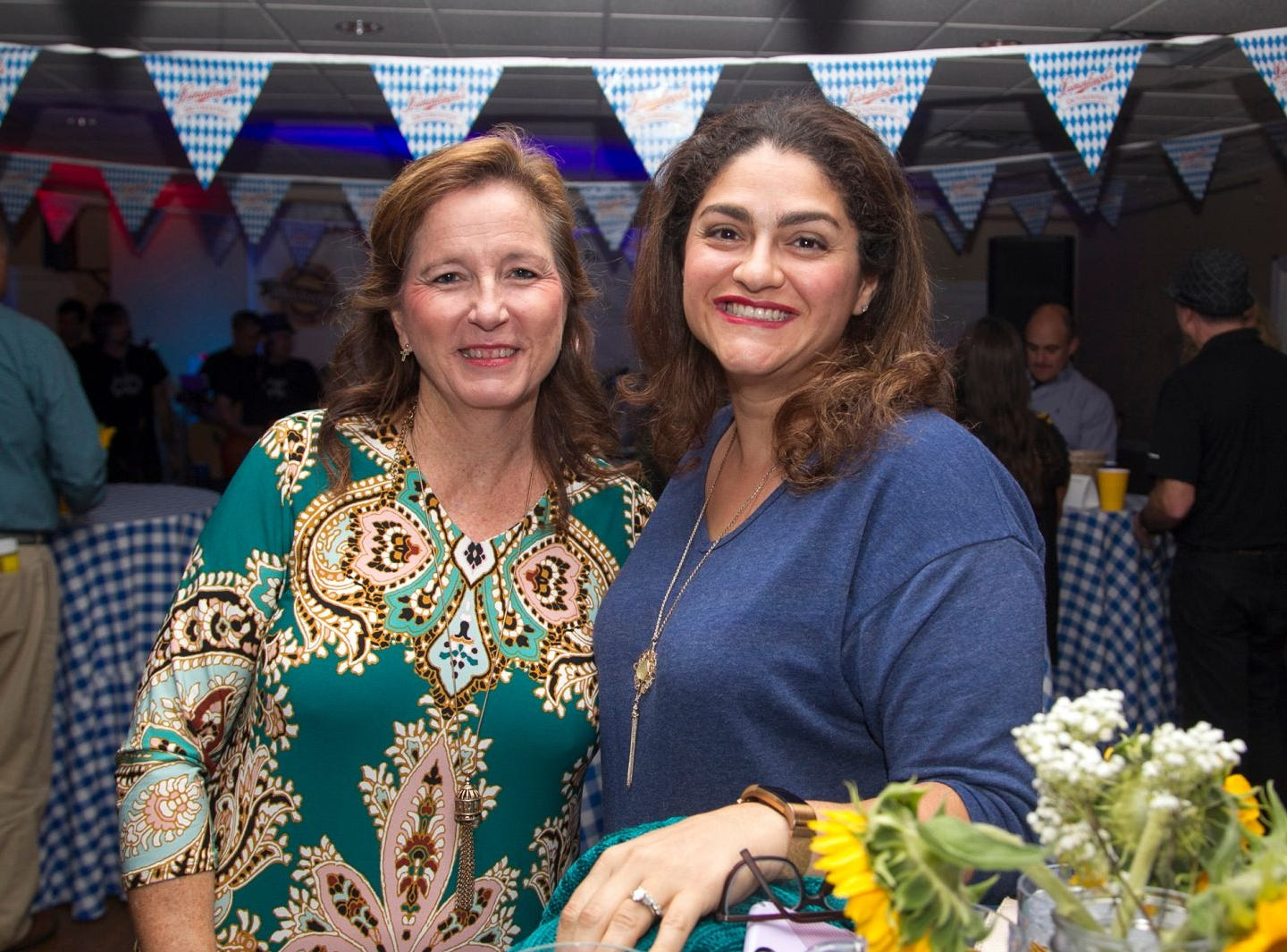 Anna Salerno and Deanne Dunne. Ridgewood Education Foundation's 2018 Oktoberfest at the Hermitage. 09/29/2018