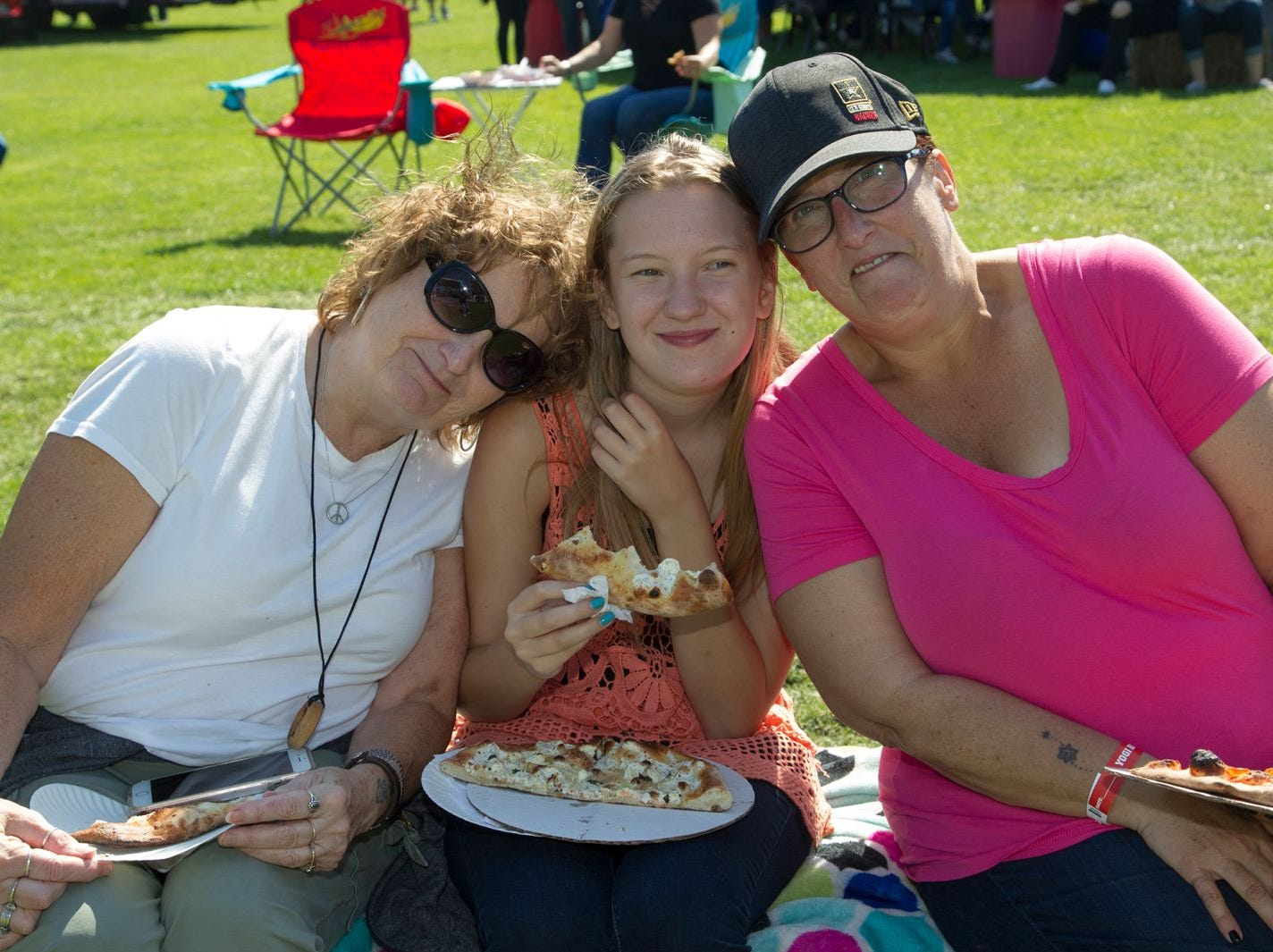 Dawn, Stephanie, Maria. The second annual Food Truck & Craft Beer Festival at Yogi Berra Stadium in Little Falls. 09/29/2018