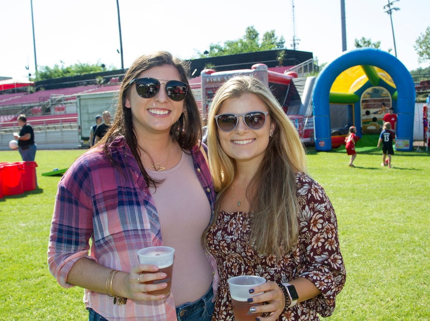Natalia Davie, Lisa Blomgrem. The second annual Food Truck & Craft Beer Festival at Yogi Berra Stadium in Little Falls. 09/29/2018