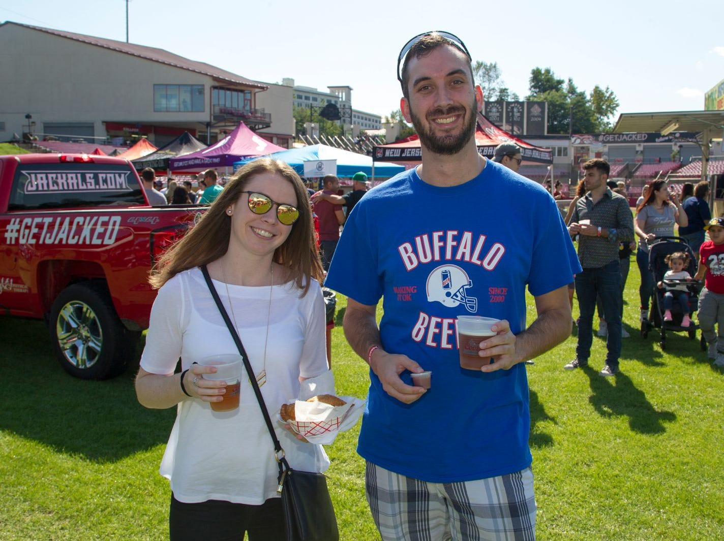 Erin and Chris. The second annual Food Truck & Craft Beer Festival at Yogi Berra Stadium in Little Falls. 09/29/2018