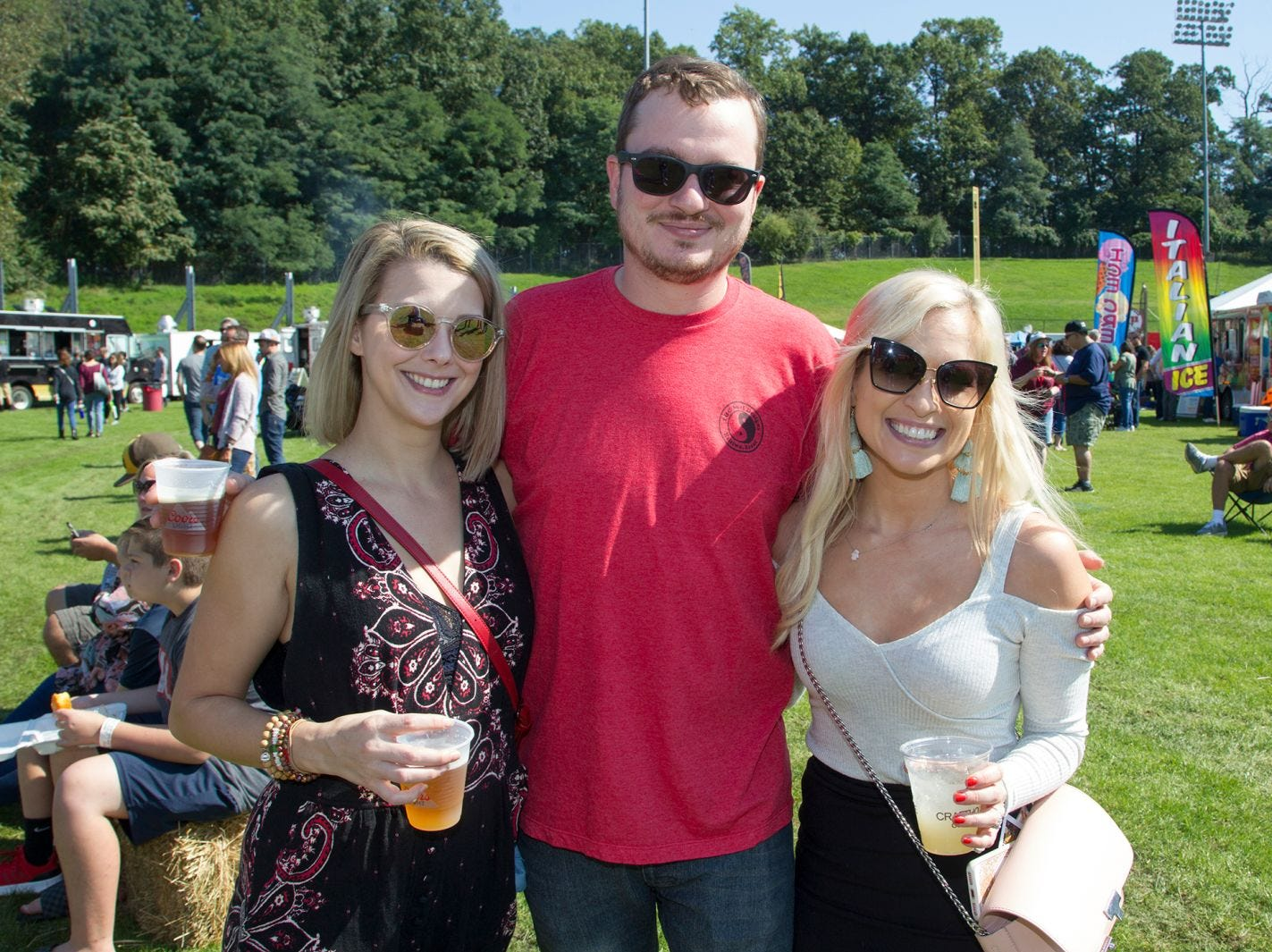 Rachel, Colin, Leslie. The second annual Food Truck & Craft Beer Festival at Yogi Berra Stadium in Little Falls. 09/29/2018