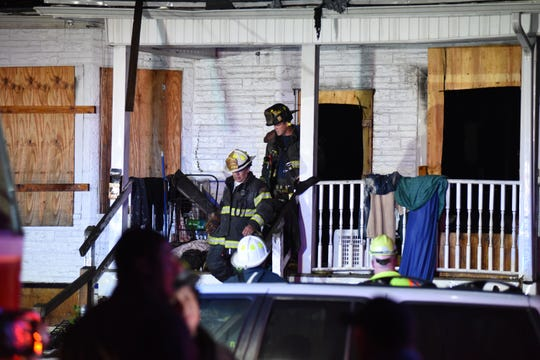 The scene where a fire took place in an abandoned house at 757 E27th Street in Paterson around 3:25 a.m. on Oct. 2, 2018.