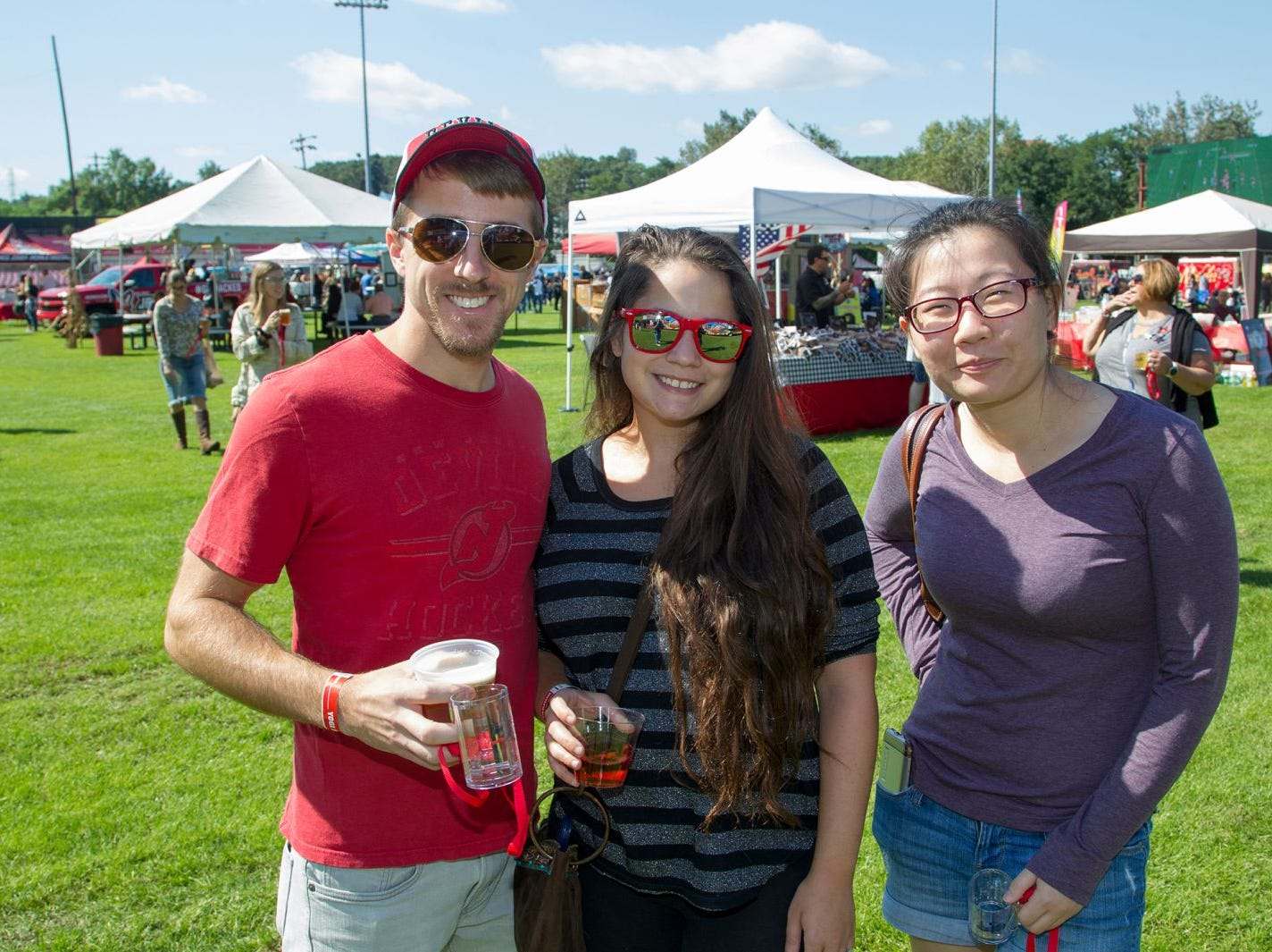 Jim Stys, Emily Gucciaro, Erica Hsu. The second annual Food Truck & Craft Beer Festival at Yogi Berra Stadium in Little Falls. 09/29/2018