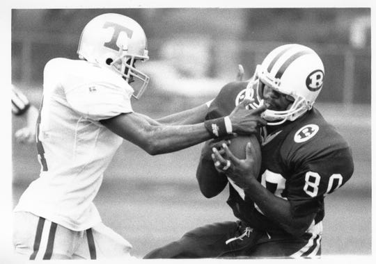 Teaneck plays against Ridgewood in 1995.