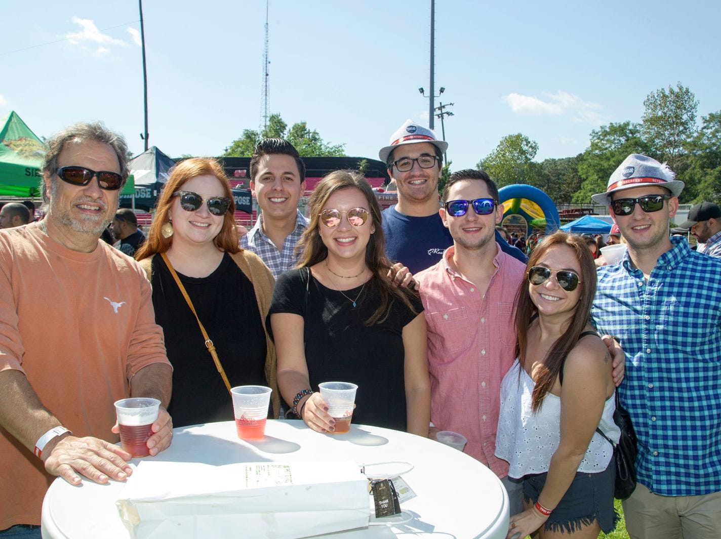 Rick, Nicole, Tyler, Emily, Mike, Dylan, Sam. The second annual Food Truck & Craft Beer Festival at Yogi Berra Stadium in Little Falls. 09/29/2018