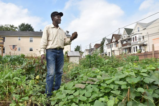 Willy Davis tends to his garden in the 4th Ward of Paterson