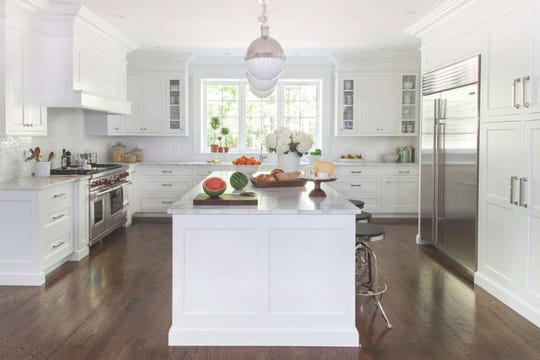 This bright kitchen has a clean, timeless look.