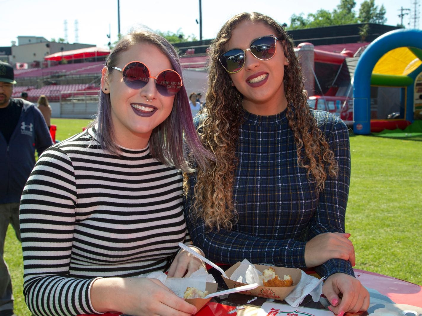Holly Tornvall, Alex Migliore. The second annual Food Truck & Craft Beer Festival at Yogi Berra Stadium in Little Falls. 09/29/2018