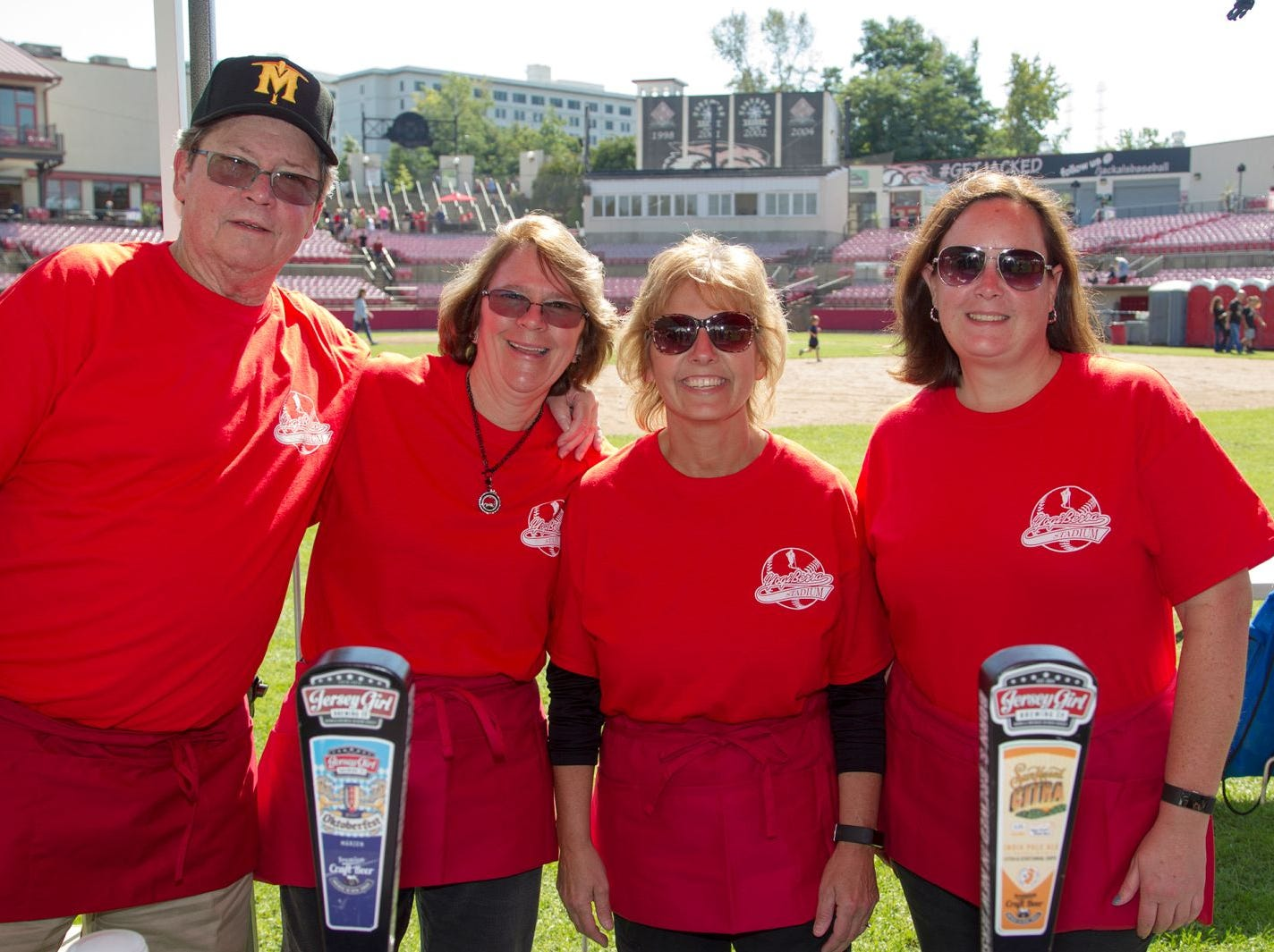 John, Darlene, Cathy, Lisa. The second annual Food Truck & Craft Beer Festival at Yogi Berra Stadium in Little Falls. 09/29/2018