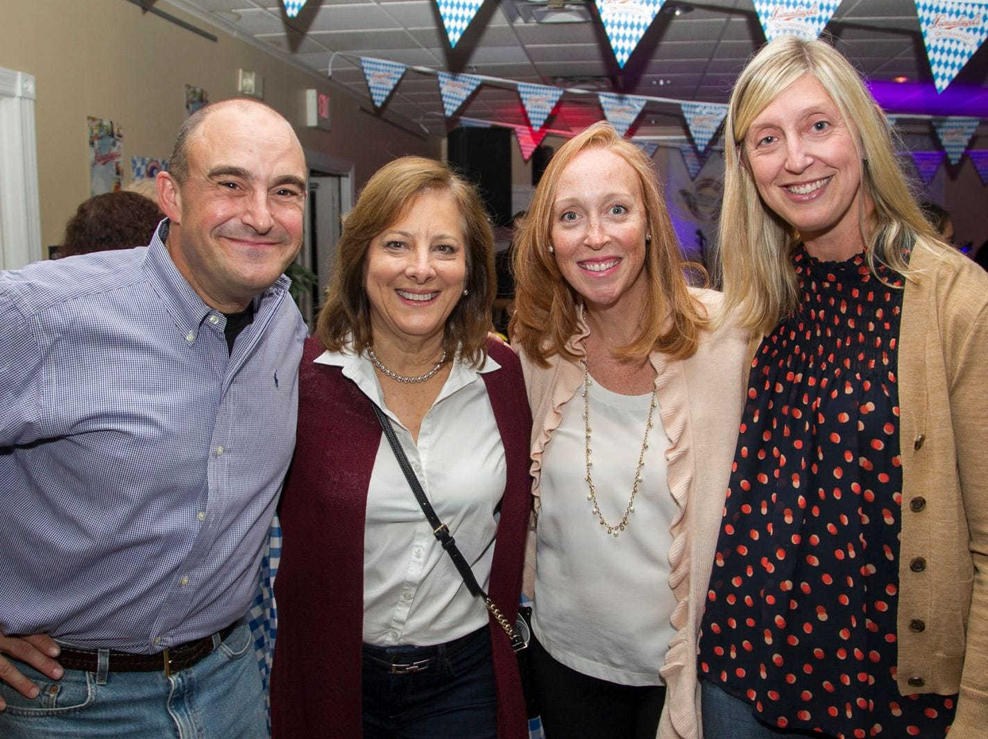 Paul Semindinger (Hanes Principal), Mary Ferreri (Orchard Principal), Caroline Hoffman (Willard Principal), Margy Leininger (Travell Pricipal). Ridgewood Education Foundation's 2018 Oktoberfest at the Hermitage. 09/29/2018