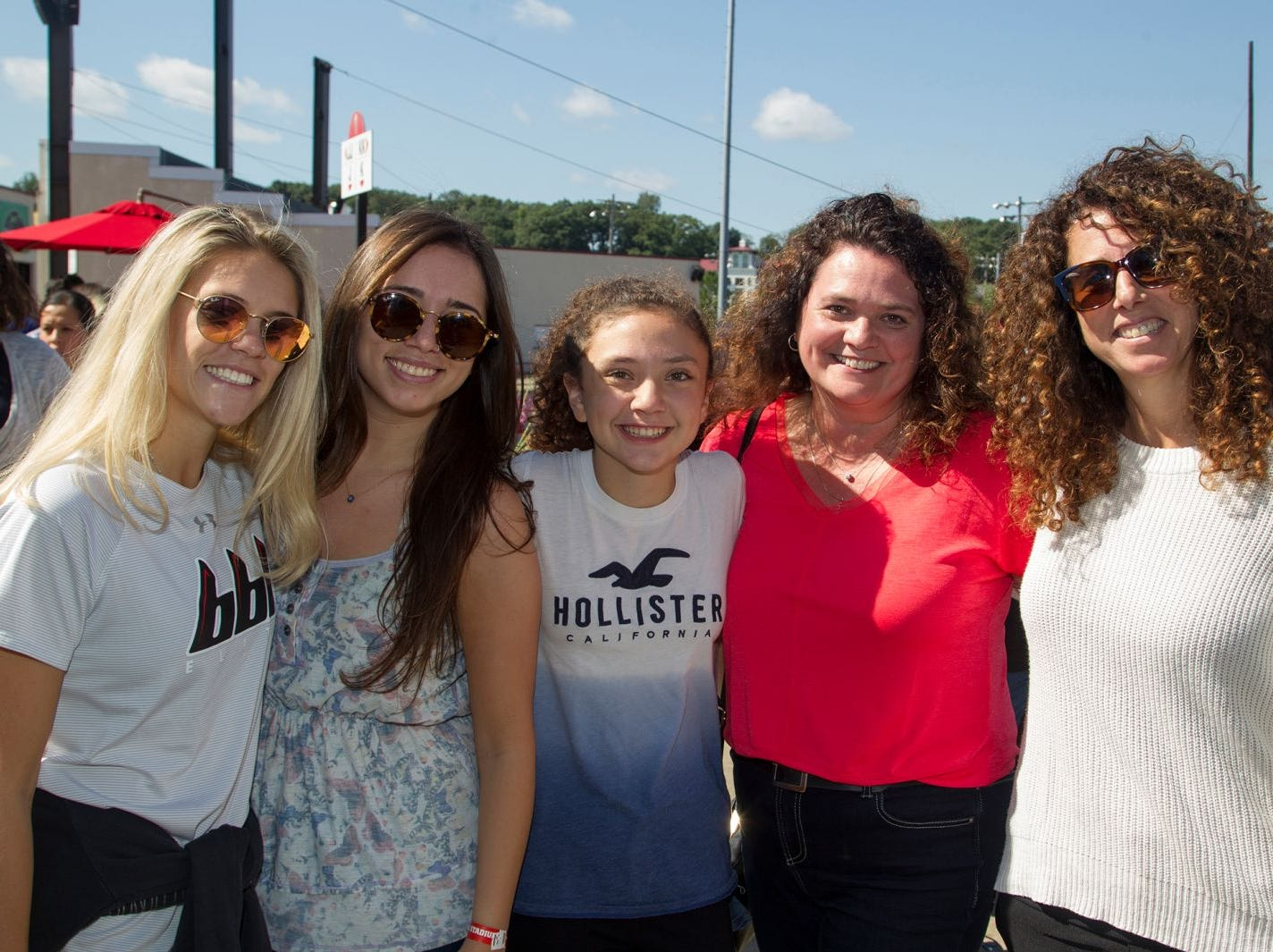 Rachel Hofbauer, Maria Dentinger, Lindsay Guariglia, Kelleen Guarilia, Julie Dentinque. The second annual Food Truck & Craft Beer Festival at Yogi Berra Stadium in Little Falls. 09/29/2018