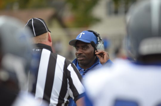 Teaneck coach Harold Clark during a 2015 game.