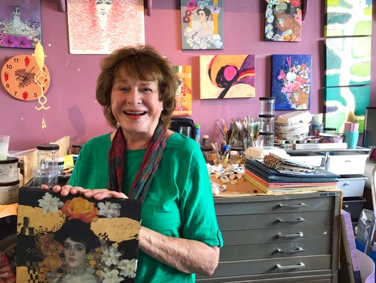 Edwina Hawley Milner in her studio in Santa Fe, NM. Photo by James Rutherford.