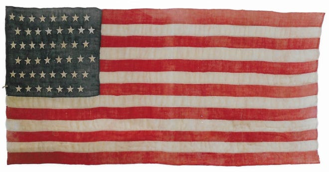 The Tularosa Basin Museum of History's 47-star flag, the only such example on public display in the nation.
