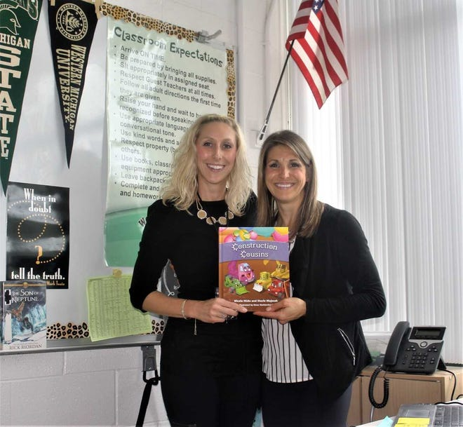"""Sisters Nicole Hicks (left) and Stacie Majszak collaborated on their first children's book, """"Construction Cousins"""", which was released earlier this year."""