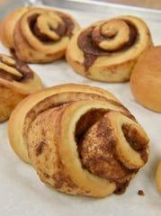 Mmmmmm. Fresh cinnamon rolls can be found at Butter Bear Shop.
