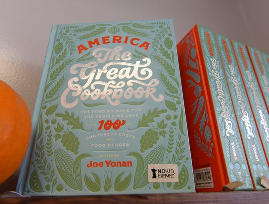 """The Butter Bear Shop sells Joe Yonan's """"America The Great Cookbook,"""" which has the recipe for Amanda Saab's baklava cheesecake."""