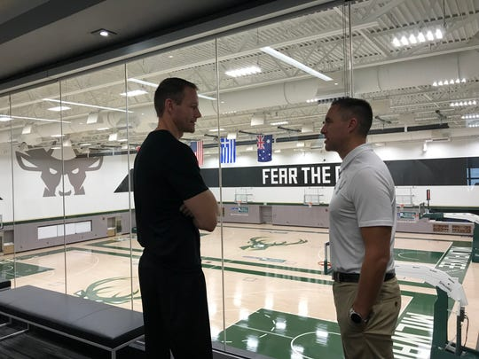 Former Wisconsin Herd coach Jordan Brady and general manager Dave Dean discuss the 2018-19 season at the Wisconsin Sports Science Center.
