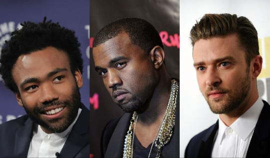 """According to """"informed sources"""" close to Hits Daily Double, the 2019 Coachella headliners will be Childish Gambino, Justin Timberlake andKanye West."""