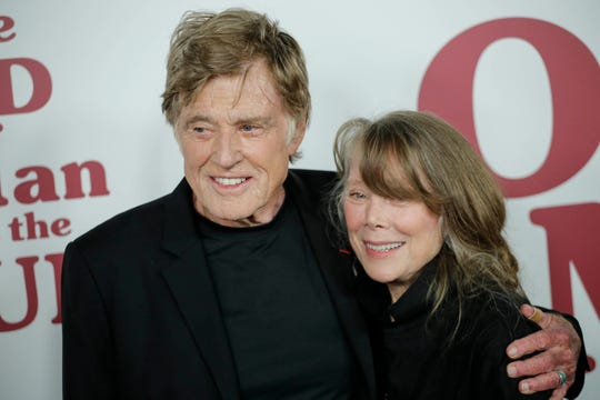 """Robert Redford and Sissy Spacek attend the premiere of 'The Old Man & the Gun"""" in New York City on Sept. 20, 2018."""