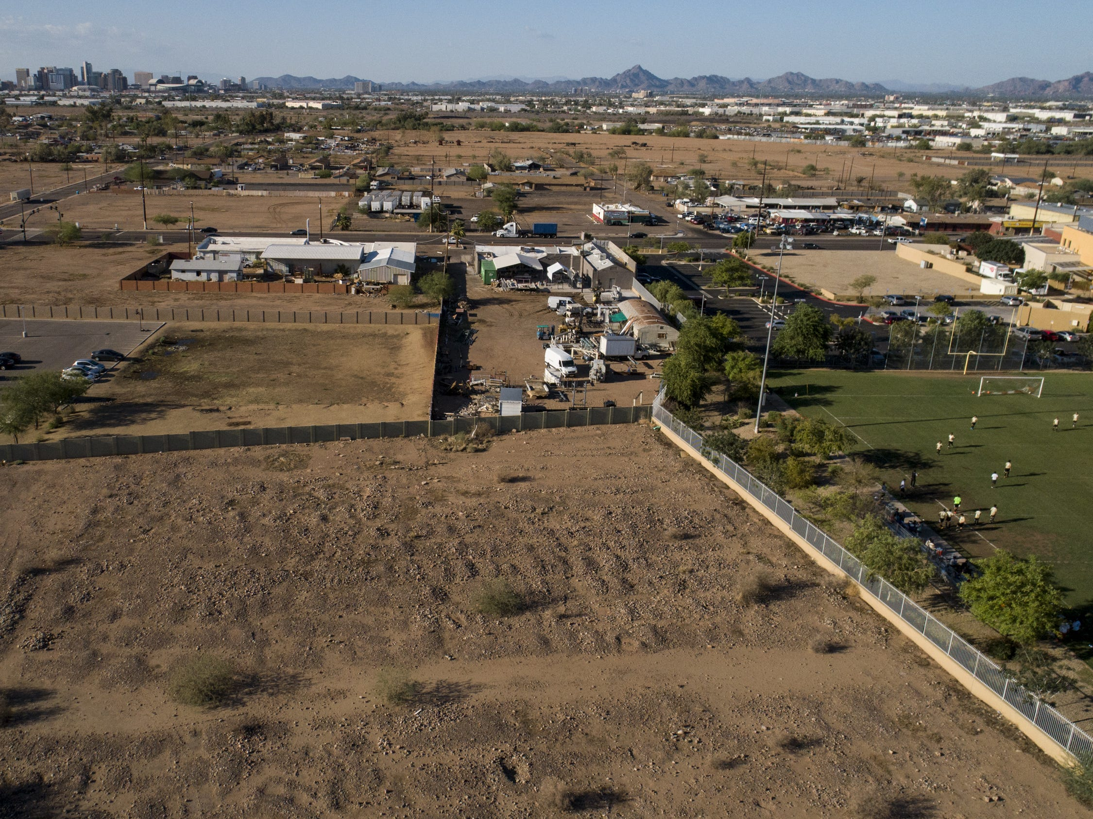 The Sotelo-Heard Cemetery in Phoenix as seen from above.