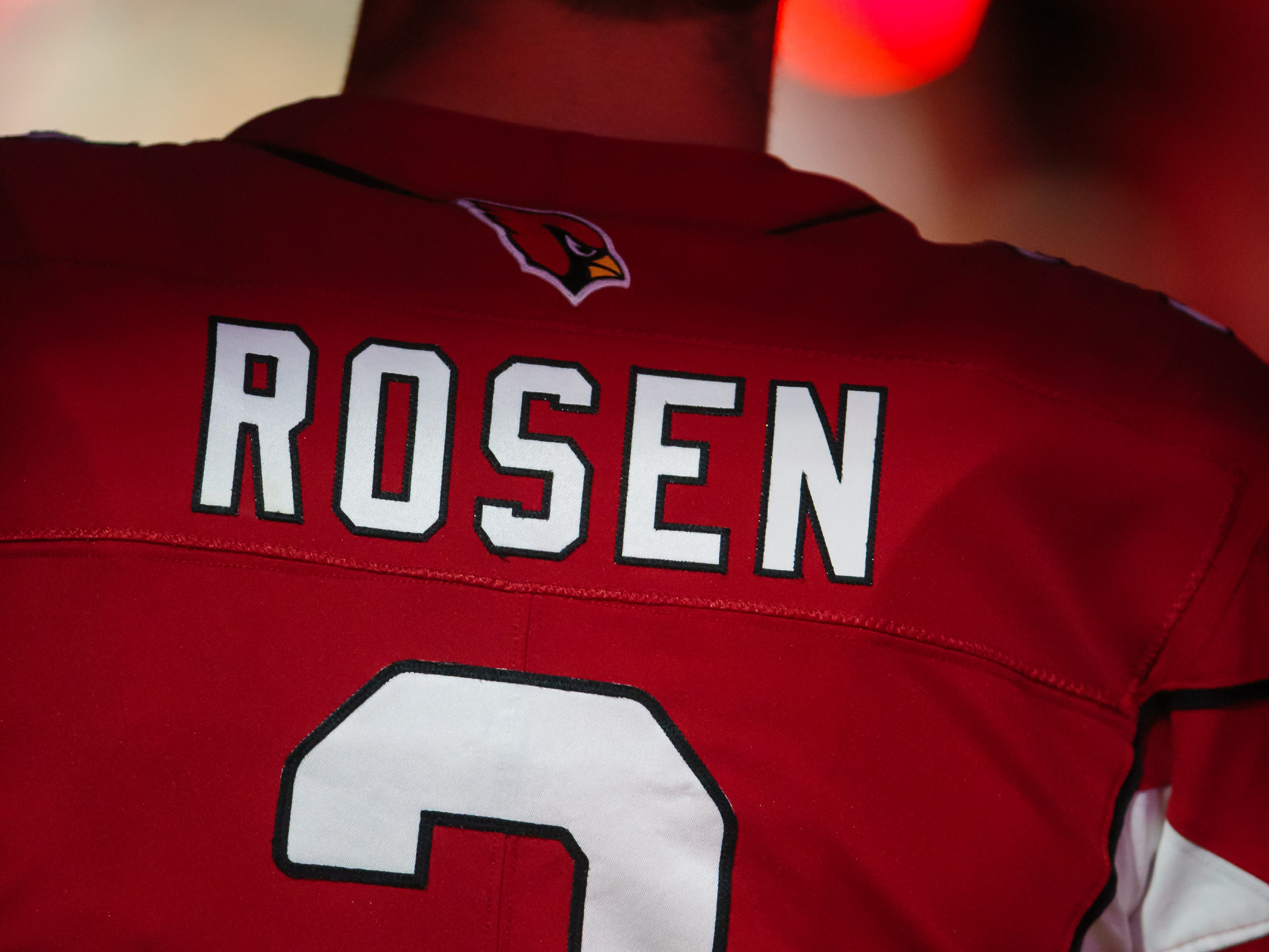 Arizona Cardinals quarterback Josh Rosen prepares to face the Seattle Seahawks at State Farm Stadium on Sept. 30 for his NFL starting debut.