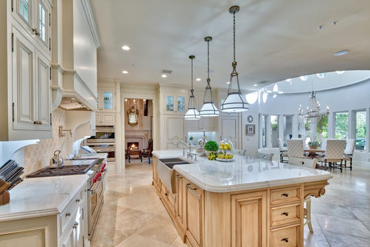 The home was completely renovated in 2015 with $2.6 million in upgrades including a white marble designer kitchen.