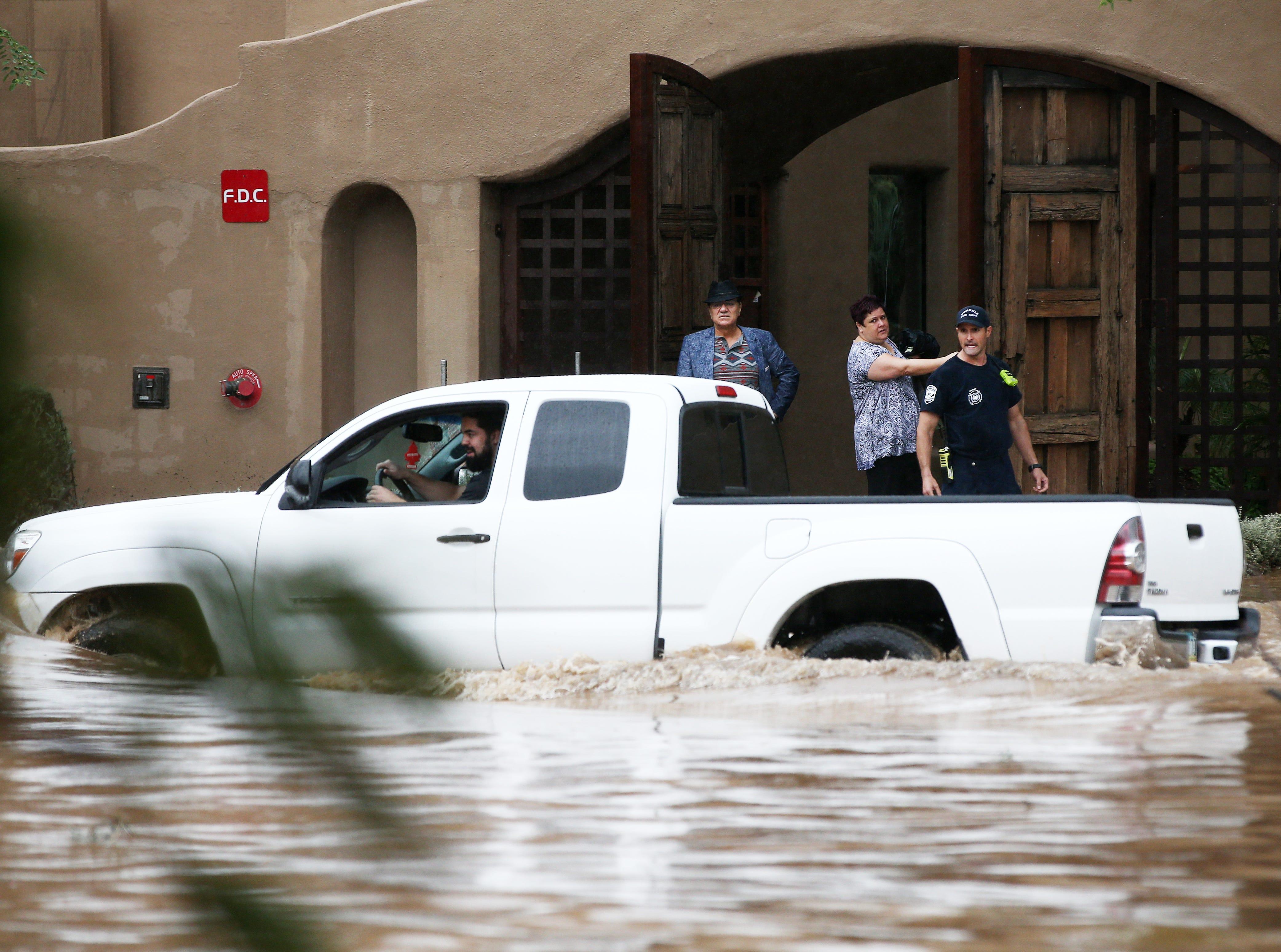 Imágenes de la llegada del clima lluvioso a Arizona el martes 2 de octubre, 2018, provocado por el Huracán Rosa
