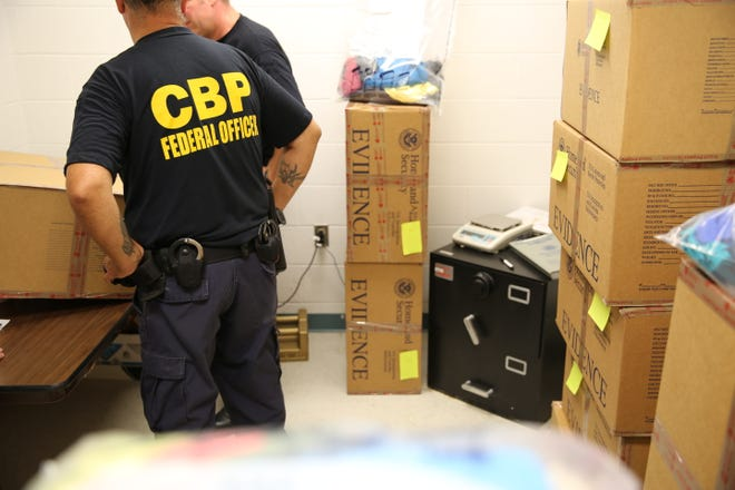 U.S. Customs and Border Protection seized more than 1,650 pounds of marijuana at the Blue Water Bridge over the past few weeks.