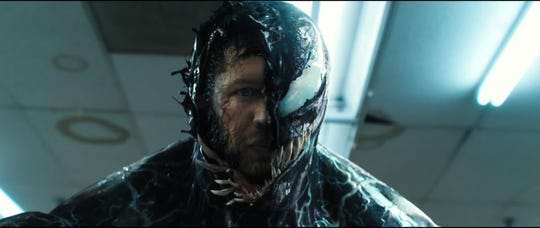 "Tom Hardy stars in ""Venom,"" opening Oct. 4 at Regal West Manchester Stadium 13, Frank Theatres Queensgate Stadium 13 and R/C Hanover Movies."