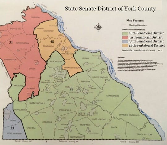 28th District Senate map