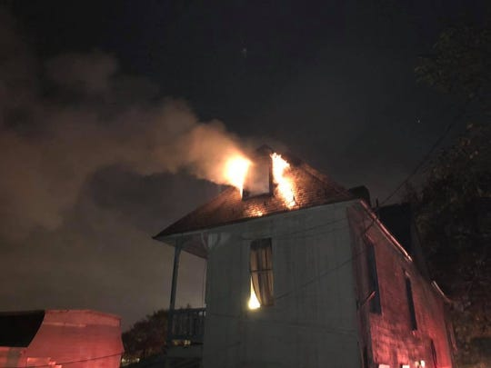 Firefighters responded to a fire in the first block of Jefferson Avenue on Tuesday, Oct. 2. Photo courtesy of York City Fire Department.
