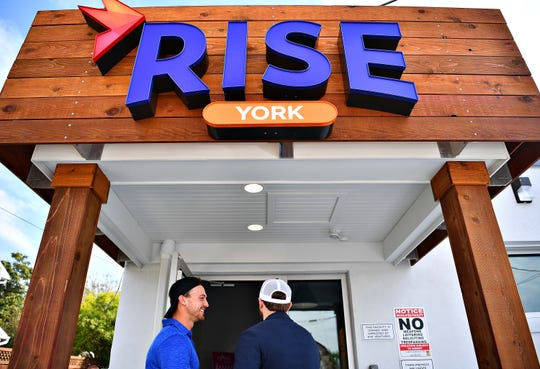 The public is greeted York County's second medical marijuana dispensary, RISE York, during an open house at 4395 West Market St. in West Manchester Township, Tuesday, Oct. 2, 2018. Dawn J. Sagert photo