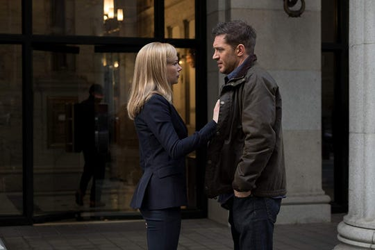 """Michelle Williams and Tom Hardy star in """"Venom,"""" opening Oct. 4 at Regal West Manchester Stadium 13, Frank Theatres Queensgate Stadium 13 and R/C Hanover Movies."""