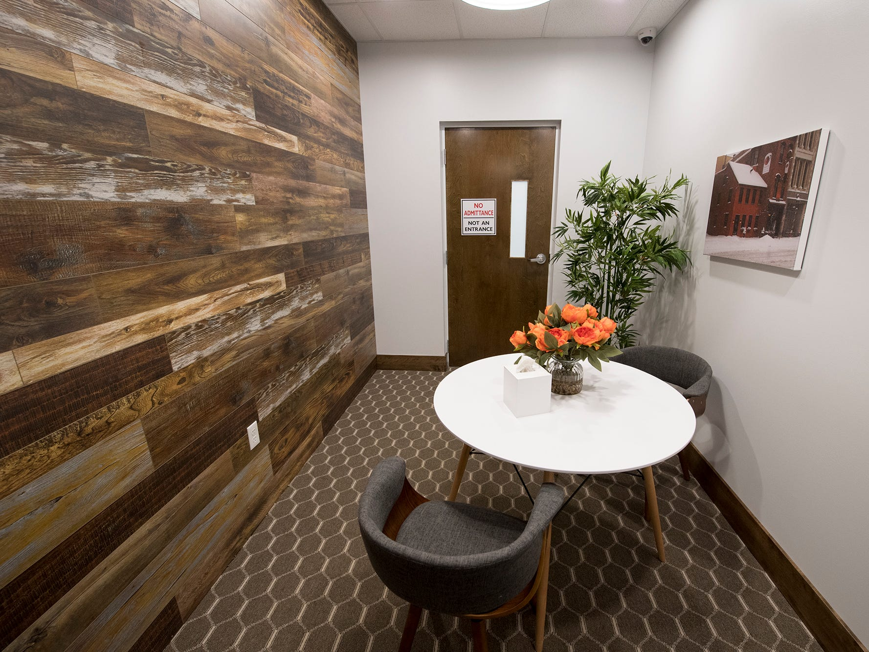 A consulting room at the Rise medical marijuana dispensary in West Manchester Township. This is where a customer will consult with staff before they enter the product room.