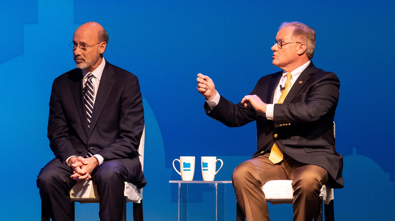 Pa  governor race debate: Tom Wolf vs  Scott Wagner - vs